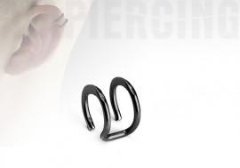 faux piercing anneaux d'oreilles - double blackline
