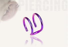 DESTOCKAGE  anneaux d'oreilles - double violet