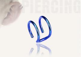 DESTOCKAGE  anneaux d'oreilles - double bleu