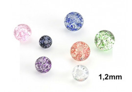 Piercing accessoire bille paillette 1,2mm
