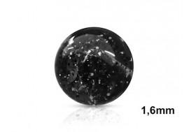 Accessoire de piercing Bille paillettes 1,6mm-Noir