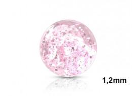 Piercing accessoire bille paillette 1,2mm-rose