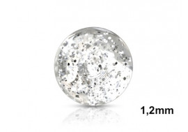 Piercing accessoire bille paillette 1,2mm-transparent