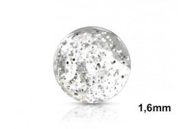 Accessoire de piercing Bille paillettes 1,6mm-transparent