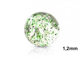 Piercing accessoire bille paillette 1,2mm-vert
