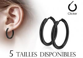 Boucle d'oreille créole noire