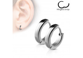 Boucle d'oreille anneau acier