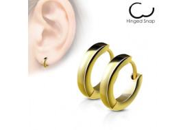 Boucle d'oreille anneau plaqué or jaune