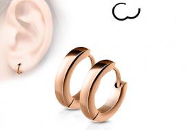 Boucle d'oreille anneau plaqué or rose