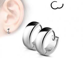 Boucle d'oreille anneau acier 4mm