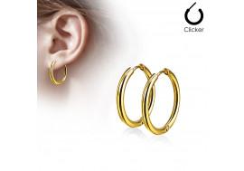 Boucle d'oreille créole doré