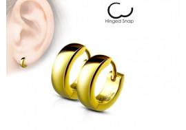 Boucle d'oreille anneau plaqué or 4mm