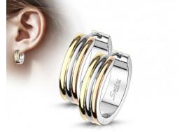 Piercing boucle d'oreille homme anneau doré
