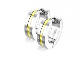 Piercing boucle d'oreille homme anneau bande dorée