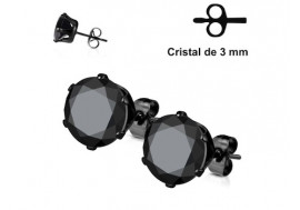 Boucle d'oreille blackline 3mm