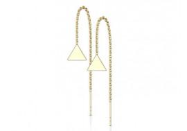 Boucle d'oreille chainette plaqué or triangle