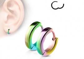 Boucle d'oreille anneau multicouleur