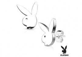Boucle d'oreille acier Playboy