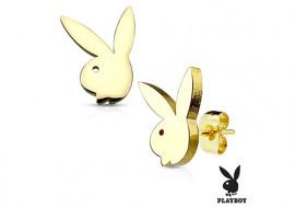 Boucle d'oreille plaqué or Playboy