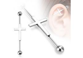 Piercing industriel motif croix