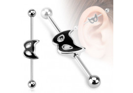 Piercing industriel motif chat
