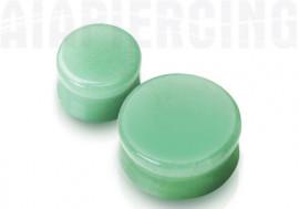 Plug pierre jade verte