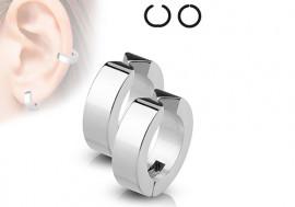 Faux piercing oreille anneau acier
