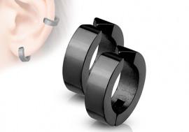 Faux piercing oreille anneau noir