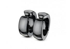 Faux piercing oreille anneau bombé noir