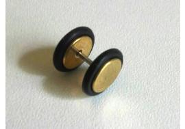 Faux piercing écarteur plaqué or