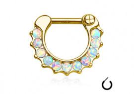 Bijou de Septum et d'Oreille Opale Or Jaune