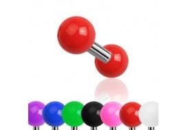 Piercing barbell bille acrylique