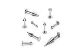 Piercing labret spike acier chirurgical