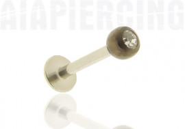 Piercing labret bille blackline pierre blanche