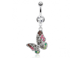 Piercing nombril papillon