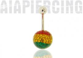 Piercing nombril swarovski multicolore