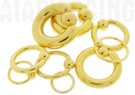 Piercing anneau boule clipsée plaqué or