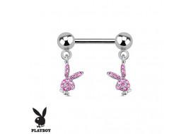 Piercing téton lapins roses Playboy®