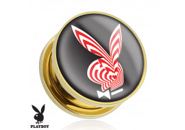 Plug plaqué or lapin rouge et blanc Playboy®