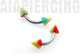 Arcade spikes rasta 4mm