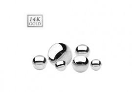 Piercing accessoire bille or blanc 14K