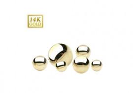Piercing accessoire bille or jaune 14K