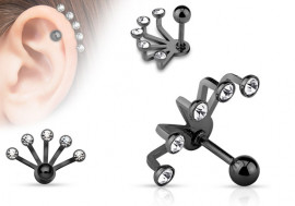 Piercing oreille Ear Cuff noir