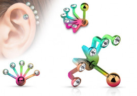 Piercing oreille Ear Cuff  multicolor