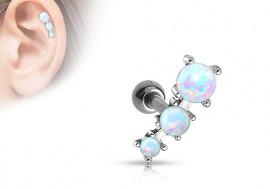Piercing de cartilage et helix 3 opales