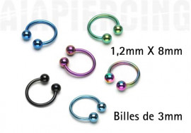 piercing fer à cheval 1,2 X 8mm