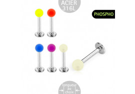 Labret acrylique phosphorescent