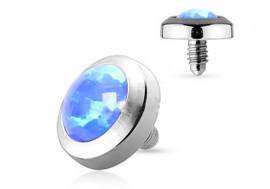 Piercing dermal opalite bleue