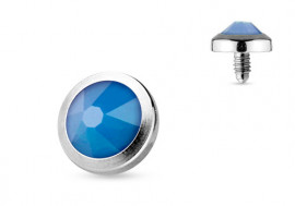 Piercing Microdermal opalite bleue 4mm