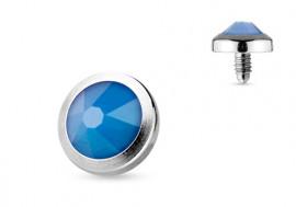 Piercing Microdermal opalite bleue 4mm